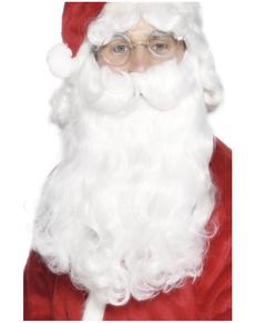 Barba di Babbo Natale deluxe bianca