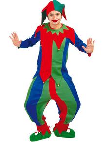 Costume da giullare colorato
