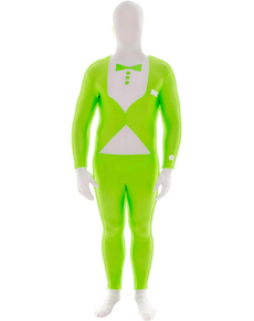 Costume smoking verde fosforescente Morphsuit