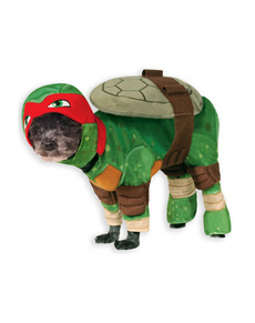 Costume da Raffaello Tartarughe Ninja per cani