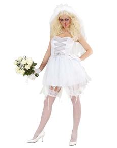 Costume da sposa zombie provocante