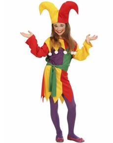 Costume da giullare per bambina