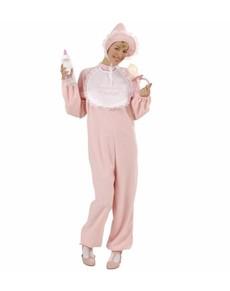 Costume da bebè rosa per donna