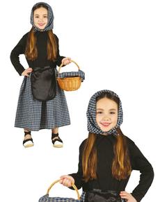 Costume da venditrice di castagne da bambina