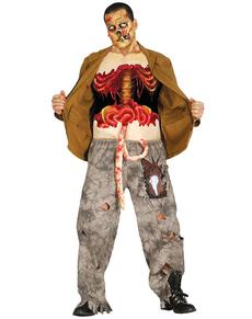 Maglietta da zombie sventrato per uomo