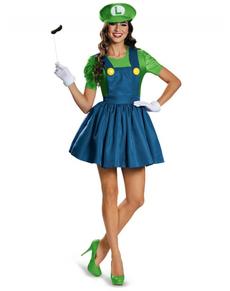 Costume Brillante Luigi per donna