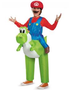 Costume Mario Bross ride on Yoshi per bambino