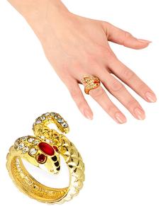 Anello serpente dorato per donna