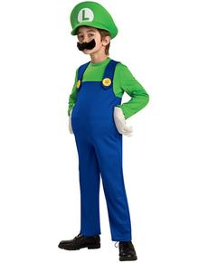Costume Luigi da bambino Deluxe